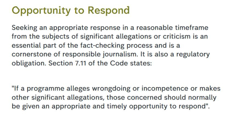 Journalistic Code of Ethics #3