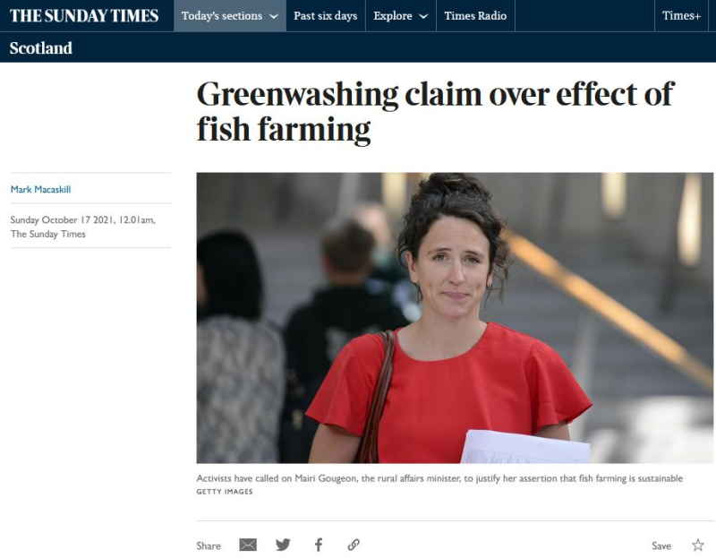 Sunday Times Greenwashed 17 Oct 2021 #1