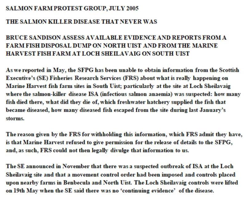Sunday Times July 2005 North Uist salmon dump #6 SFPG