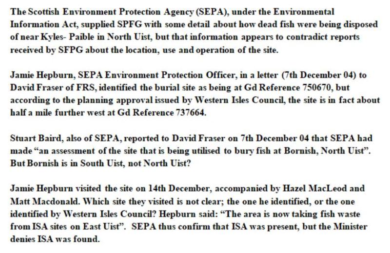 Sunday Times July 2005 North Uist salmon dump #8 SFPG
