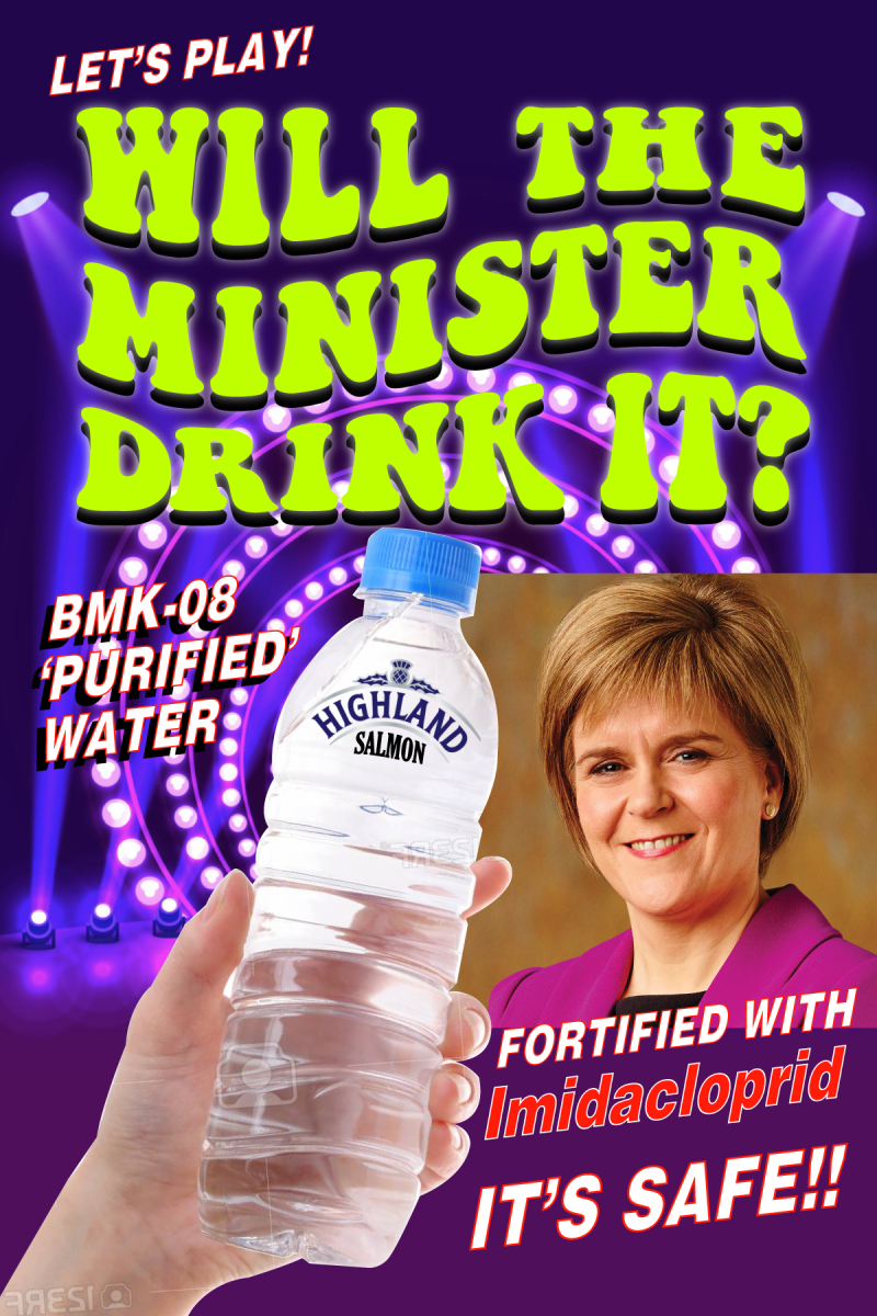 Imidacloprid graphic Will the Minister drink it