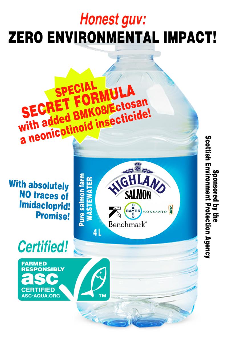 Imidacloprid graphic Water bottle spoof