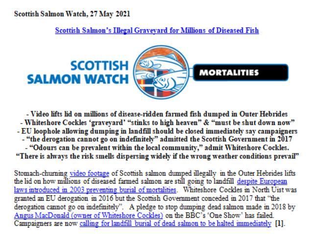 PR Dump Scottish Salmon Whiteshore Cockles 27 May 2021 #1