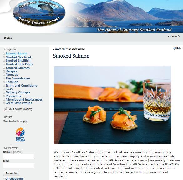 Applecross Smokehouse web-site change 24 June 2021