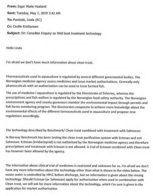 Norwegian Medicines Agency FOI reply on Imidacloprid 24 June 2021 #2