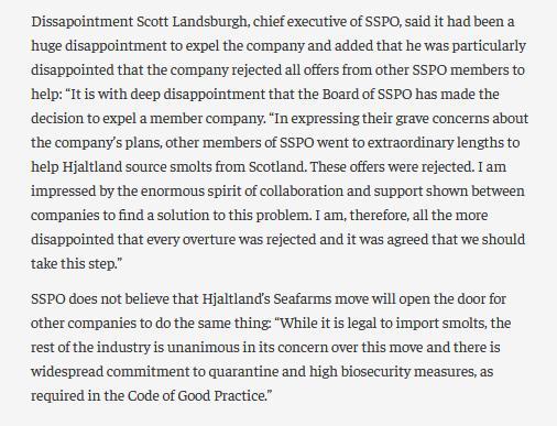 Salmondemic blog July 2021 #29 SSPO expelled Grieg
