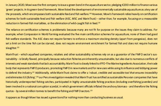 Investors warning report July 2021 Greenwashing Mowi #3