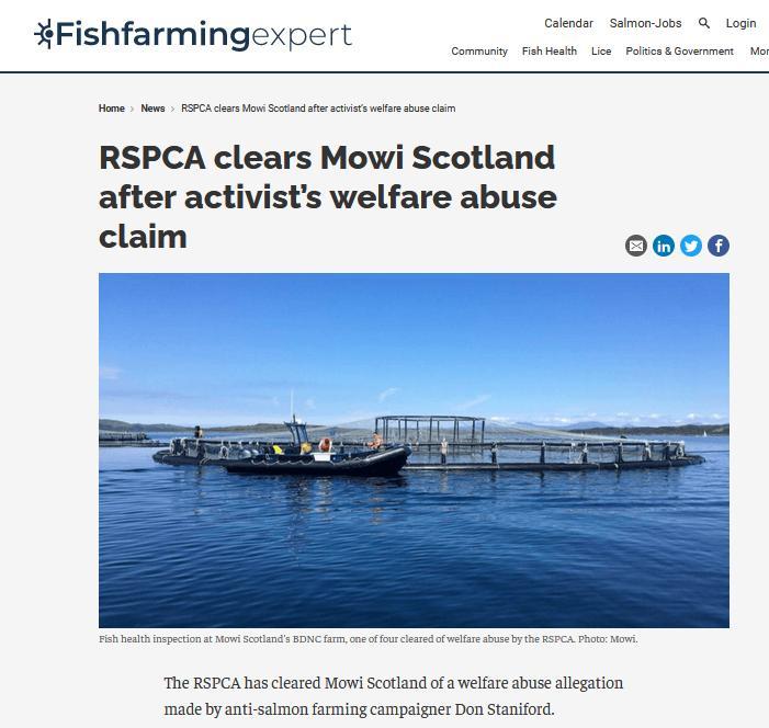 RSPCA clear Mowi 29 July 2021 #2