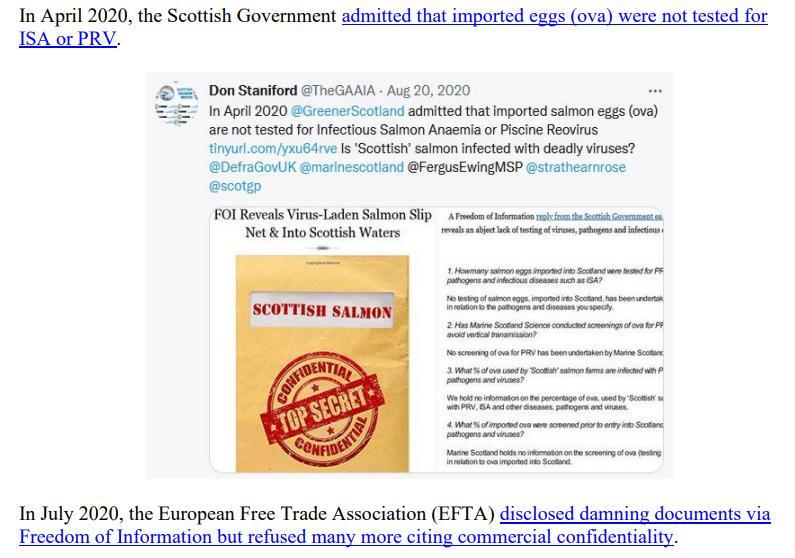 Media Backgrounder Scottish Salmon Recurring ISA Nightmare August 2021 #6