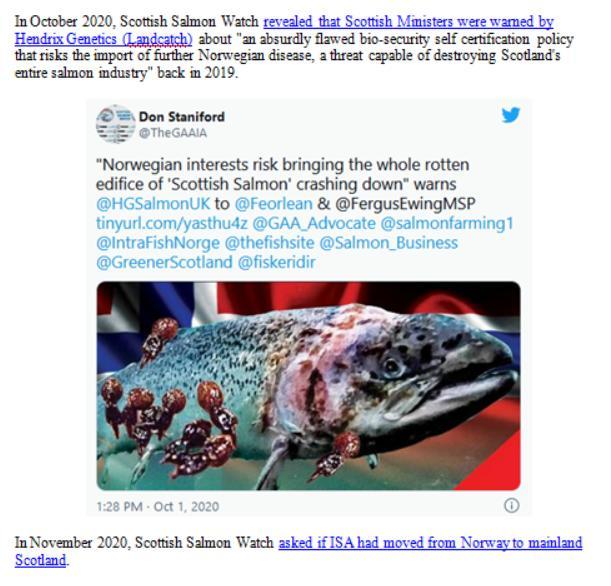 Media Backgrounder Scottish Salmon Recurring ISA Nightmare August 2021 #7