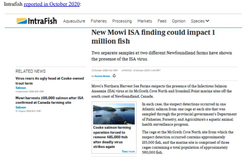 Media Backgrounder Norway Infectious Salmon Aquacalypse Going Global Since 1984 August 2021 #4