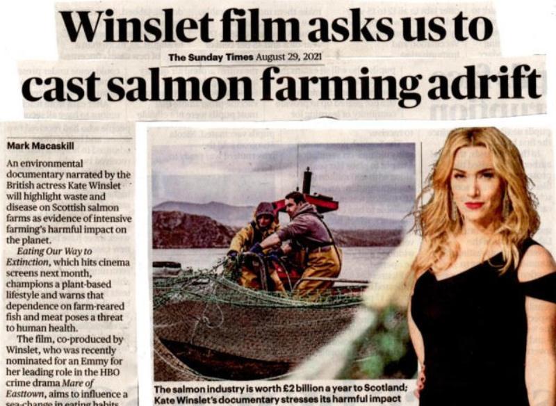 Sunday Times 29 Aug 2021 Winslet film newspaper version #1