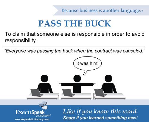 Pass the buck #2