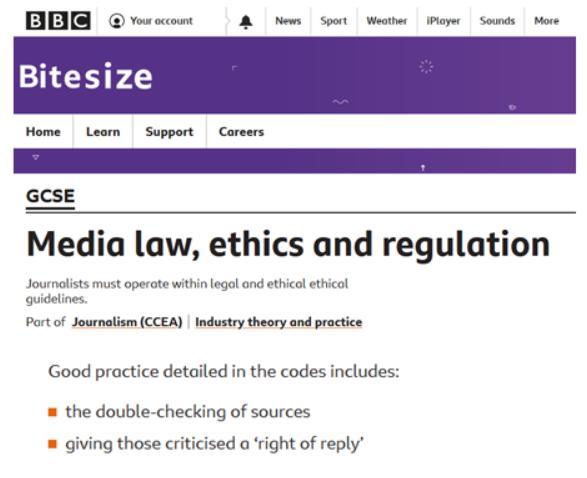 Journalistic Code of Ethics #2