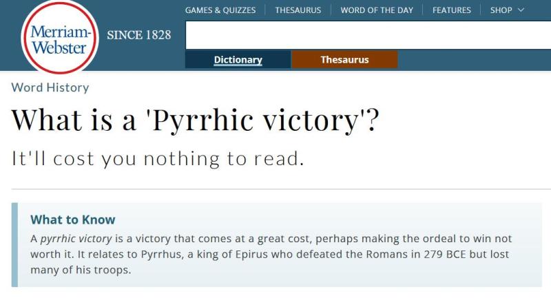 Pyrric blog #1