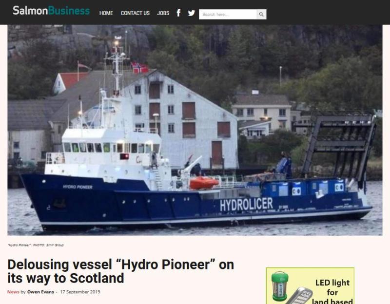 Hydrolicer arrives at West Strome 18 Oct 2021 #2